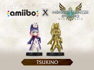 Imagen promocional de los amiibo de Tsukino - Serie Monster Hunter Stories