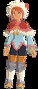 Atuendo de Hakum Rider (mujer) que se obtiene con los amiibo de Monster Hunter Stories - Monster Hunter Stories 2