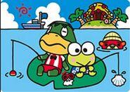 Sello Capitán y Keroppi - Serie Animal Crossing X Sanrio