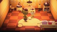 Marty y algunos objetos temáticos de Pompompurin - Animal Crossing New Horizons