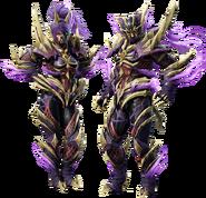 Armadura superpuesta que se obtiene con el amiibo de Magnamalo - Monster Hunter Rise