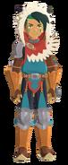 Atuendo de Hakum Rider (hombre) que se obtiene con los amiibo de Monster Hunter Stories - Monster Hunter Stories 2