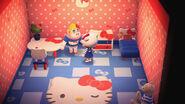 Rila y algunos objetos temáticos de Hello Kitty - Animal Crossing New Horizons