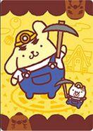 Sello Pompompurin y Rese T. Ado - Serie Animal Crossing X Sanrio