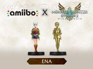 Imagen promocional de los amiibo de Ena - Serie Monster Hunter Stories