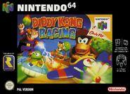 Caja de Diddy Kong Racing (Europa)