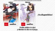 Confirman que los amiibo de Joker y Héroe ya están disponibles
