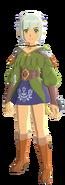 Atuendo de Ena que se obtiene con el amiibo de Ena - Monster Hunter Stories 2
