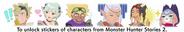Calcomanías temáticas de Monster Hunter Stories 2 para Monster Hunter Rise