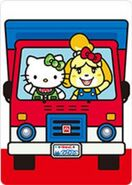 Sello Hello Kitty y Canela - Serie Animal Crossing X Sanrio
