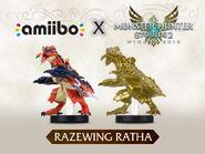 Imagen promocional de los amiibo de Ratha Kalapteron - Serie Monster Hunter Stories
