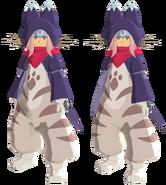 Atuendo de Tsukino que se obtiene con el amiibo de Tsukino - Monster Hunter Stories 2