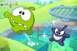 Boo and Om Nom