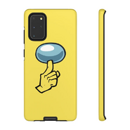 Yellow shhh phone case