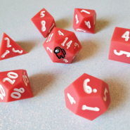 Red 7-Piece Dice Set