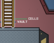 The Airship Vault and Cells sign