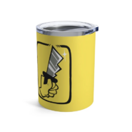 Yellow shhh 10oz tumbler (back)