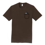 Brown Mini Crewmate pocket tee