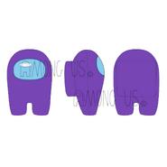 Crewmate Plush (Purple)