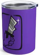 Purple Shhh 10oz Tumbler Back