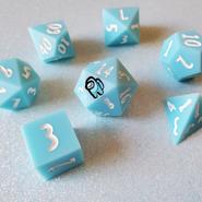 Cyan 7-Piece Dice Set