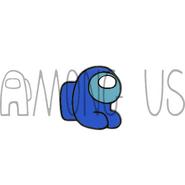 Blue Mini Crewmate enamel pin