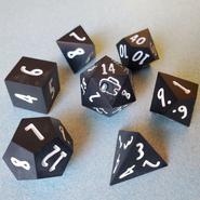 Black 7-Piece Dice Set