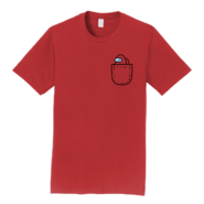 Red Mini Crewmate pocket tee
