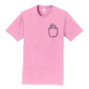 Pink Mini Crewmate pocket tee