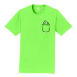 Lime Mini Crewmate pocket tee