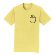 Yellow Mini Crewmate pocket tee