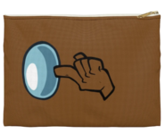 Brown Shhh Accessory Pouch Front