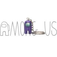 Purple Crewmate Keychain