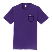 Purple Mini Crewmate pocket tee