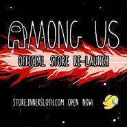 Innersloth Merchandise Store relaunch teaser