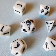 White 7-Piece Dice Set
