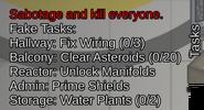 Impostor task list