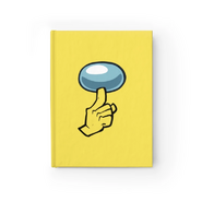 Yellow shhh unruled journal