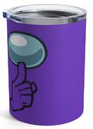 Purple Shhh! 10oz Tumbler (Front)