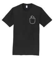 Negro camiseta de Mini Tripulante (bolsillo)