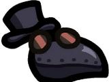 Sombrero de doctor de la peste