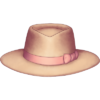 Chapéu panamá com laço bege.png