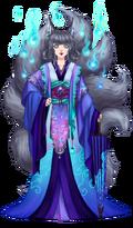 Traje Kitsune Ghost 1
