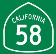 Ca-58 Highway Sign