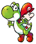 150px-SMA3 Yoshi and Baby Mario 1
