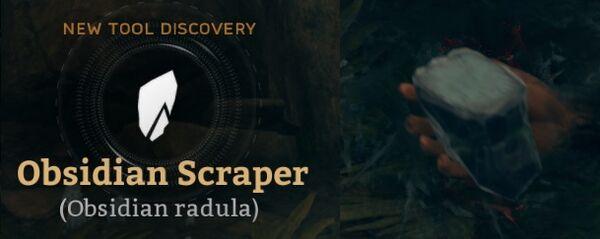 Obsidian Scraper (Obsidian radula).jpg