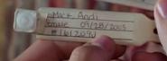 Andi's wristband in season 1 episode 1