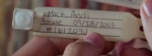Andi's wristband in season 1 episode 1.png