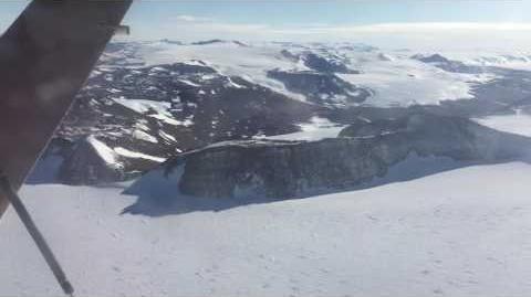 Approaching Allan Hills Nunatak, East Antarctica