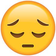 Sad Face Emoji large